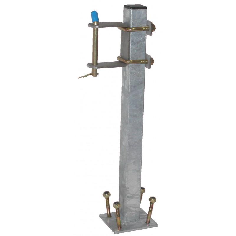 Potence complète pour jet à bras en tube 40x40 mm pour timon en 50 ou 60 mm