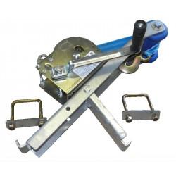 Potence complète en tôle pliée pour timon en 60x60 mm