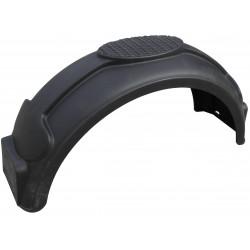 Garde boue 14 pouces arrondi en plastique Noir - 760x220x275mm - NP