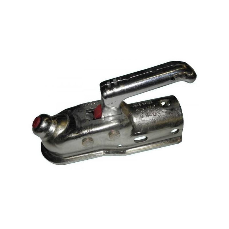 Tête d/'attelage 60 mm   de remorque  Attelage Acier galvanisé  pour Boule 50 mm
