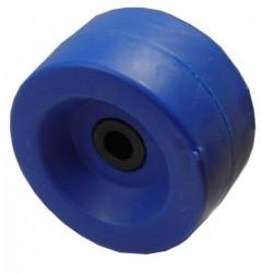 Galet plein bleu 140mm - alésage 22 mm