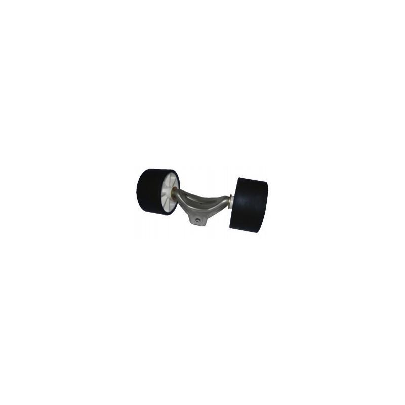 Ensemble de 2 galets bi-matière noir/blanc diamètre 100mm pour chandelle 40x40mm