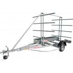 Remorque 8 canoës et/ou kayaks ASC - CK0511 - longueur 4,50m - PTAC 750 kg