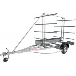 Remorque 8 canoës et/ou kayaks ASC - CK0581F - longueur 5,26m - PTAC 870 kg