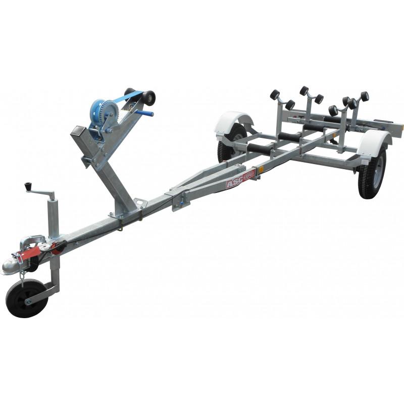 Remorque motonautisme ASC - TB0341 - longueur 4,50m - PTAC 450kg