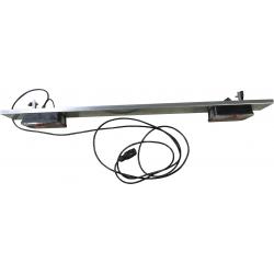 Rampe de feux 1.3 m + équerres, feux 6 fonctions PM, faisceau 1,3 m avec prise 7 broches