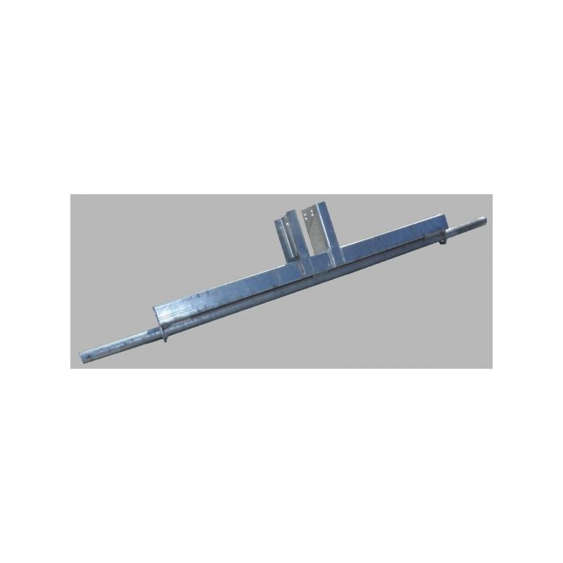 Cadre en tube 40x80mm pour chariot de jet ski avec roues en 18x8,5/8