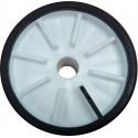 Galet bi-matière noir/blanc 100 mm - alésage 17 - remorque ASC