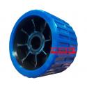 Galet bi-matière bleu/noir diamètre 120mm alésage 21 mm ASC REMORQUES