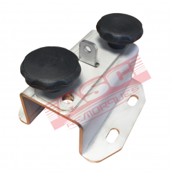 Support roue de secours entraxe 100 et 115 mm + plaquette + vis papillon