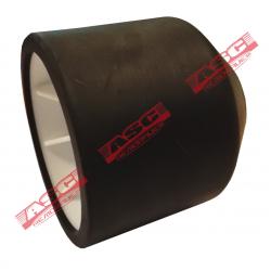 Galet conique bi-matière blanc/noir diam. 92 mm pour remorque SATELLITE / ATLAS / AREA