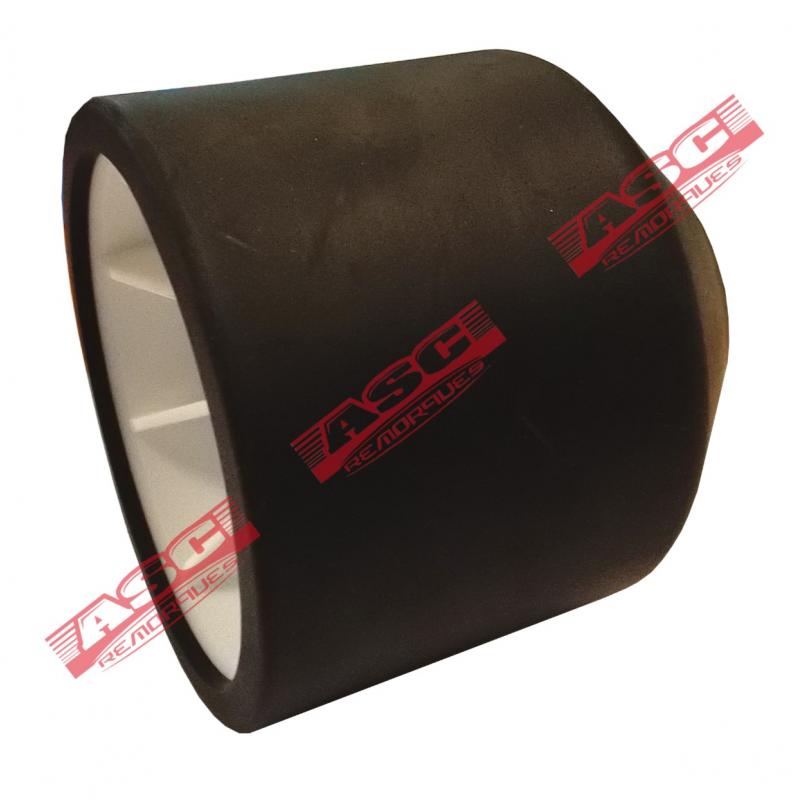 Galet bi-matière blanc/noir diam. 92 mm - ASC REMORQUES