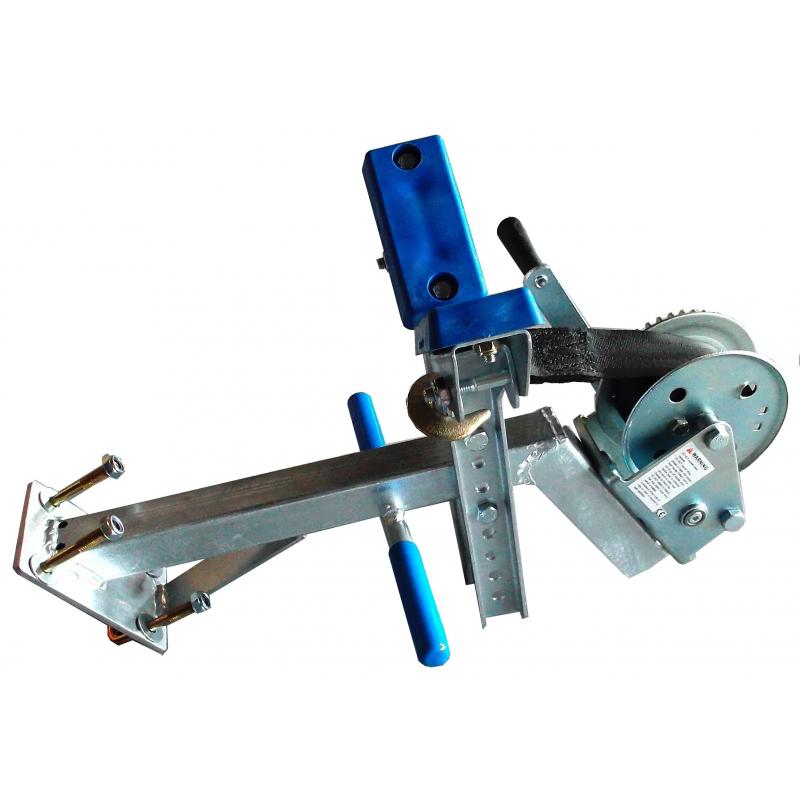 Potence complète en tube 40x40 mm pour timon en 60x60 mm - avec patins