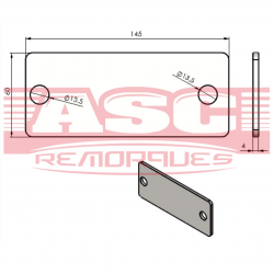 Platines métalliques pour attache ALKO 161S monopoutre (la paire)