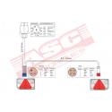 Kit feux remorque 6 fonctions avec faisceau 4,6m ASC REMORQUES