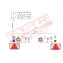Kit éclairage 6 fonctions avec faisceau 6 m ASC REMORQUES