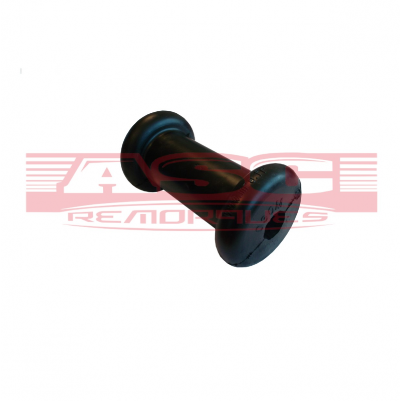 Diabolo caoutchouc noir en 130 mm Alésage 17 mm