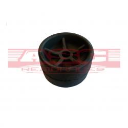 Galet bi-matière noir diamètre 120mm alésage 21 mm