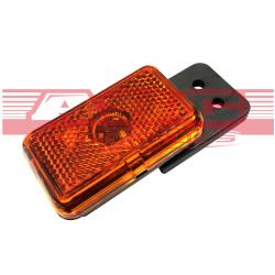 Feu de position orange sans câble sur support souple asc remorque