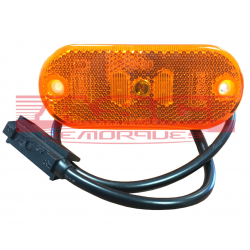 Feu de position à leds orange JOKON + câble ASC REMORQUES