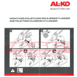 Antivol Alko pour commande de frein 90S, 161S, 251S avec tête AK161 ou AK270 ASC REMORQUES