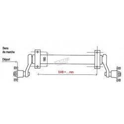 Essieu remorque 750kg NF - EAB 1400mm - 130x4 - SPP ASC REMORQUE