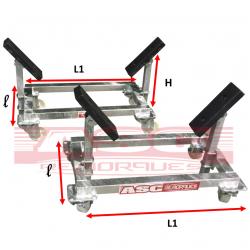 Bers de stockage à roulettes BER1T - ASC Remorques 1 Tonne